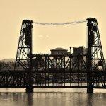 Steel Bridge as viewed from the Broadway Bridge