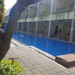 Lovely pool area with bar