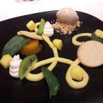 Crémeux passion / choco blanc / mangue et sorbet kiwi