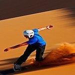 Sand Boarding, Erg Chebbi Dunes, Sahara Desert