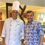 With Sous Chef Sunil Satpute