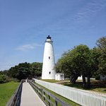 View from the parking lot & walkway to the historic lighthouse