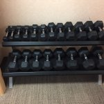 Free Weights in Exercise Room