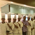 With the Chef Brigade at the Latest Recipe Restaurant