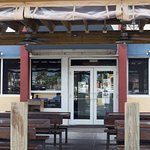 Outdoor seating, covered