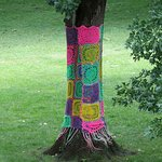 Decorated tree in the garden