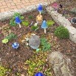 Adorable dwarf garden near visitors center