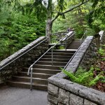 Hulls Cove Visitor Center - Steps to Visitor Center