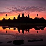 This is the sunrise at Angkor Wat temple ...! in Siem Reap City