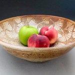 Carved Ginkgo Bowl