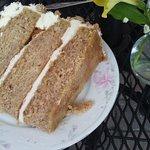 Almond-apricot cake.