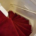 Narrow, steep stairs!