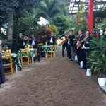 tables and band