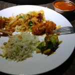 Chicken sizzler served on plate