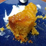 Orange polenta cake with yoghurt and honey