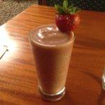 All-fruit strawberry banana smoothie
