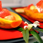 Property grown fruits served with a generous hot breakfast.