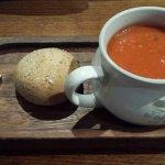 The superb tomato soup!