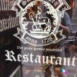 Restaurant logo on front window