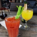 Yummy bloody mary and mimosas!
