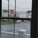 The view of the Golden Arches outside one of their windows looking at the parking spots outside!