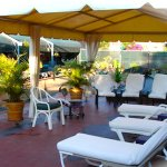 Relax in the rooftop garden. Perfect for sun or shade