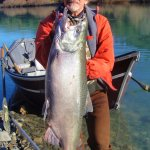 Fred with a southern Oregon coast king salmon.