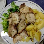 Roasted Meat plate with potatoes(second course)