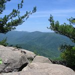 View towards Skyline Drive from the top of the 2nd section of switchbacks.