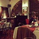 Beautiful decor inside the Wisniowy Sad Restaurant.