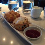 Scone & Biscuit (with berries preserves) - recommend scone over biscuit