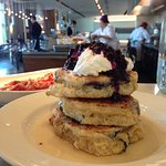 The must-try mrs biederhof's blueberry buttermilk pancakes, as well as the rosemary bacon