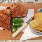 Bacon brie and Cranbury Panini