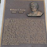 This plaque about William T. Young is one of over forty plaques in the park.