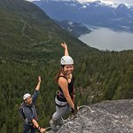 Climbing up the Via Ferrata, breathtaking views!
