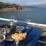 Perfect setting and lovely fresh mussels