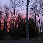 Anniversary Weekend on Lake Superior - Beautiful sunset from our porch