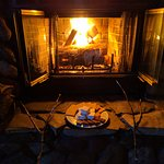 Anniversary Weekend on Lake Superior - S'mores by the Fireplace!