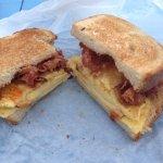 Tasty bacon n egg feast