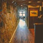 hallway to wine room