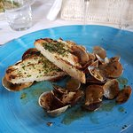 scallops with wine and garlic