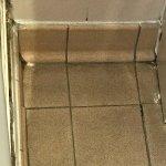 Bathroom floor filthy.