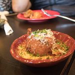 Arancini Appetizer. It has a little spicy kick to it.