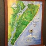 Amelia Island map lobby wall