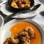 Sauteed Shrimp in garlic, oil, & spices.
