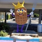 Sir Wafflelot, the Waffle King, our Waffle Spot mascot