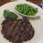 10 oz. Ribeye with sugar snap peas
