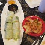 Spring Roll + Kimchi