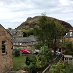 View of Arthur's Seat from the window of our room in Gifford House
