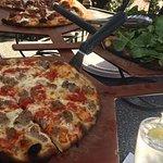 Meatballs & Ricotta Pizza, Arugula Pizza, Sausage Pizza